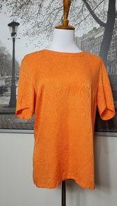 Vintage Escada Orange short sleeve blouse